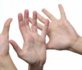 Como se llaman los dedos de la mano