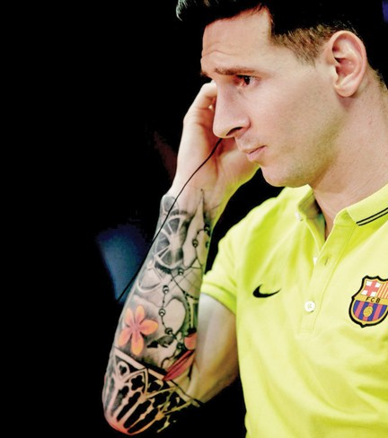 Tatuajes Messi brazo derecho