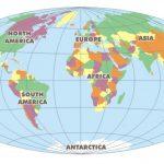 Como se llaman los continentes del mundo