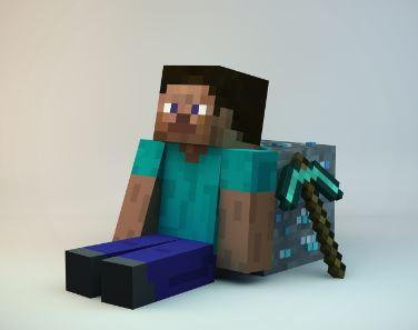 Personaje principal del juego Minecraft nombre Steve