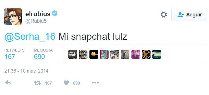 Snapchat de elrubius