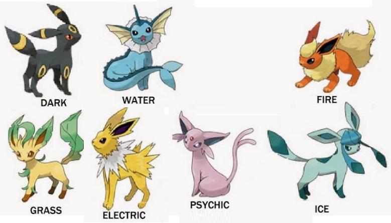 Como se llama la evolucion de eevee