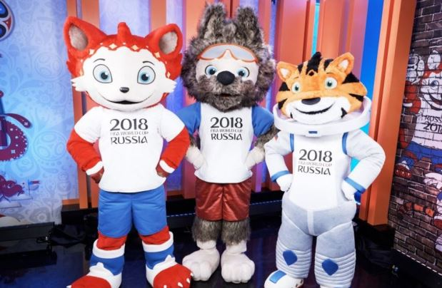 Mascotas mundial de futbol 2018
