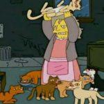 Como se llama la loca de los gatos de Los Simpsons