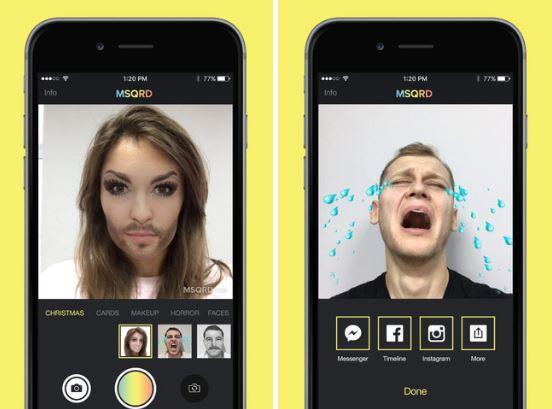 Como se llama la aplicacion que te cambia la cara cuando abres la boca