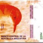 Como se llama el pájaro del billete de 1000 pesos argentinos