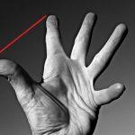 Como se llama la distancia entre el dedo pulgar y el índice